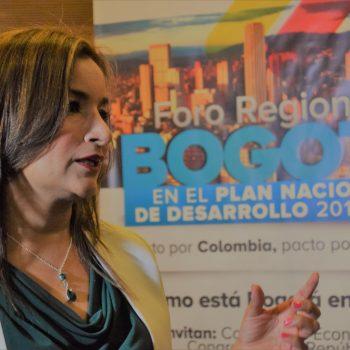 Irma Herrera Congresista Partido MIRA, en Foro Regional por Bogotá PND